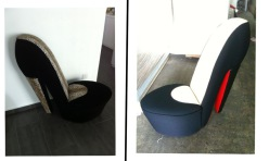 heel chair reupholstery
